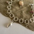 Sterling Silver Bracelet,with Shell Charm.